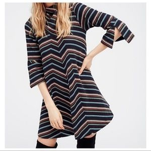 Anthropologie Stripe Swing Dress